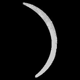 Icono realista de la luna creciente fina