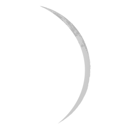 Thin crescent moon realistic icon