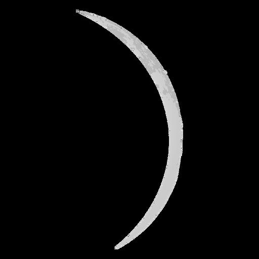 Lua fina ícone realista da lua crescente Transparent PNG