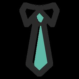Icono de trazo de color corbata