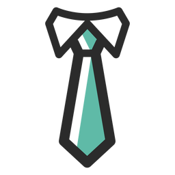 Icono de trazo de color de corbata