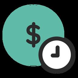 Tempo é dinheiro ícone