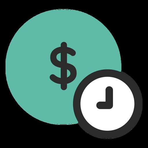 Tempo é dinheiro ícone Transparent PNG