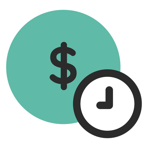 Time is money icon Transparent PNG
