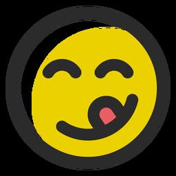 Zunge heraus gefärbter Anschlag Emoticon