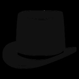 Icono plano de sombrero de copa