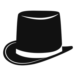 Top hat flat icon