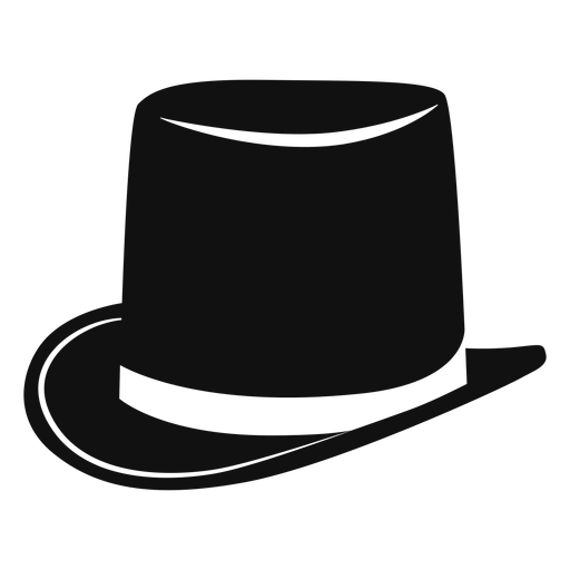 Top hat flat icon Transparent PNG