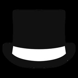 Sombrero plano vista frontal plana