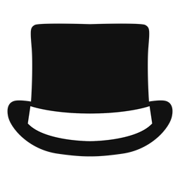 Top hat front view flat