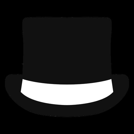 Top hat front view flat Transparent PNG