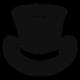 Icono de esbozo de sombrero de copa