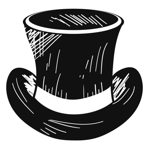 Top hat sketch icon Transparent PNG