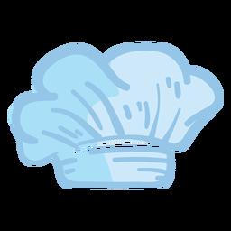 Ilustración del sombrero blanco de Toque