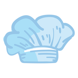 Ilustración de sombrero de toque blanco