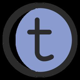 Tumblr icono de trazo de color