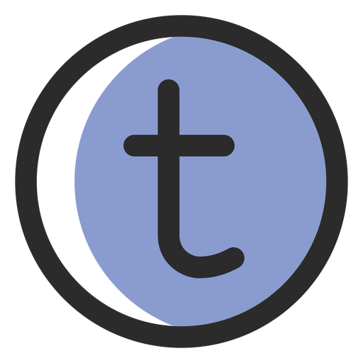 Tumblr colored stroke icon Transparent PNG