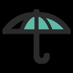 Icono de trazo de color paraguas