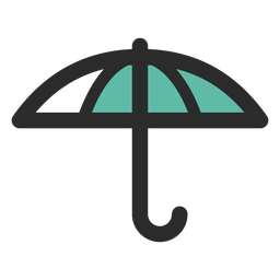 Umbrella colored stroke icon