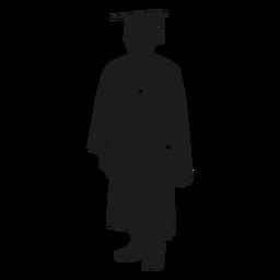 Graduado universitario silueta
