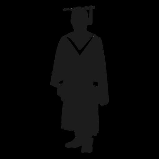 Silueta de graduado universitario