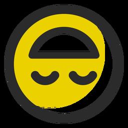 Emoticon de trazo coloreado al revés