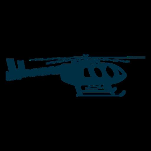 Helicóptero utilitario silueta Transparent PNG