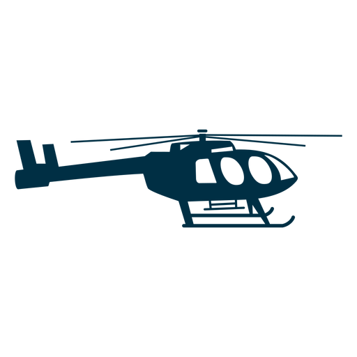 Utility helicopter silhouette Transparent PNG
