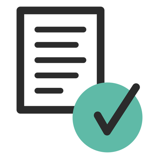 Verified document colored stroke icon Transparent PNG