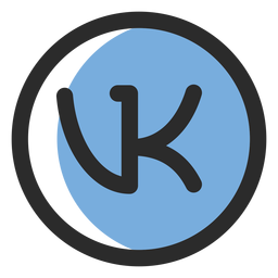 Vk colored stroke icon