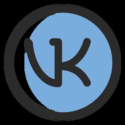 Vk ícone de traço colorido