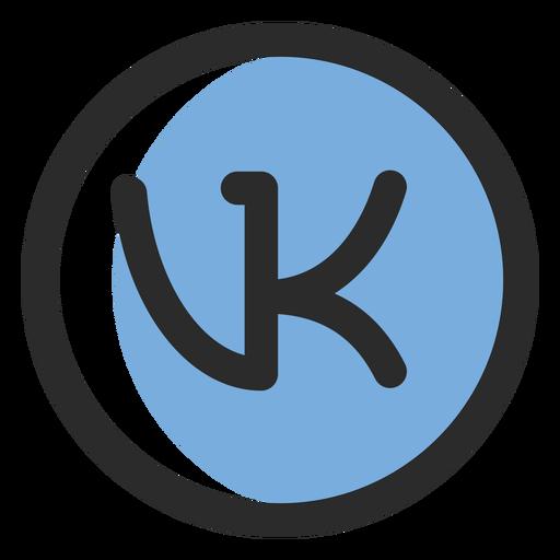 Vk ícone de traço colorido Transparent PNG