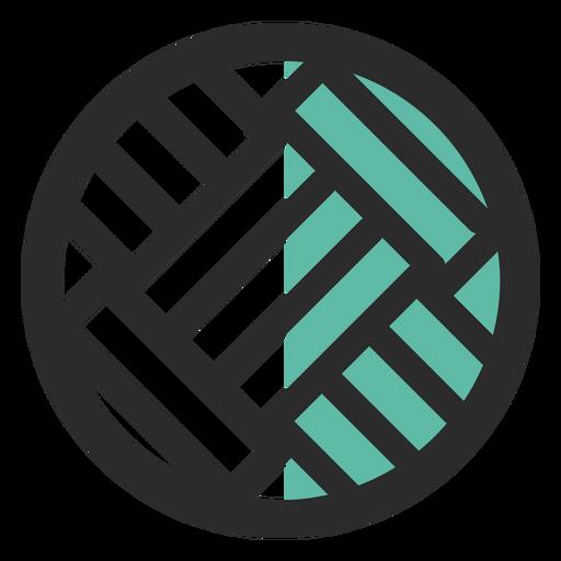 Ícone de traço colorido de bola de vôlei Transparent PNG