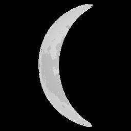 Ícone de lua crescente lua minguante