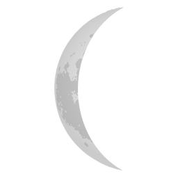 Ícono de luna menguante