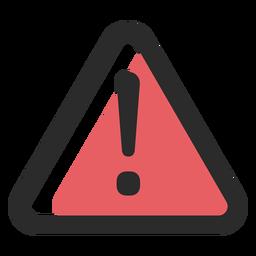 Ícone de traço colorido de sinal de aviso