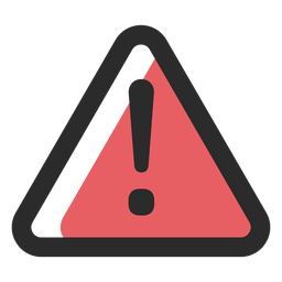 Warning sign colored stroke icon