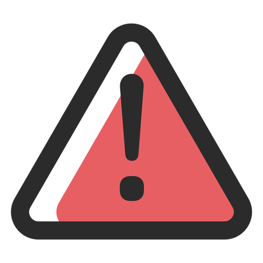Ícone de traço colorido de sinal de aviso Transparent PNG