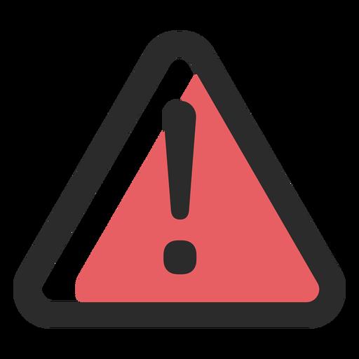 Icono de trazo de color de señal de advertencia