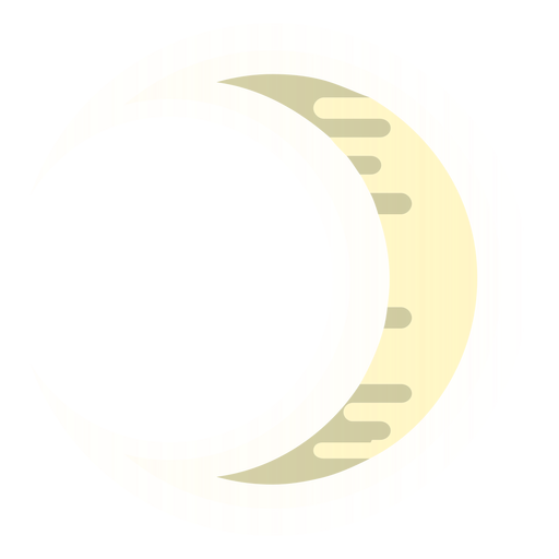 Waxing crescent moon icon Transparent PNG