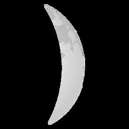 Icono de luna realista creciente de cera