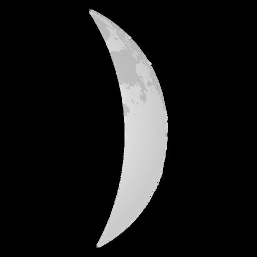 Icono de luna realista creciente de cera Transparent PNG