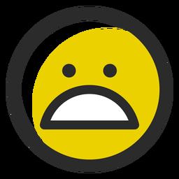 Weary colored stroke emoticon
