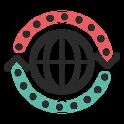 Ícone de traço colorido de ciclo da Web