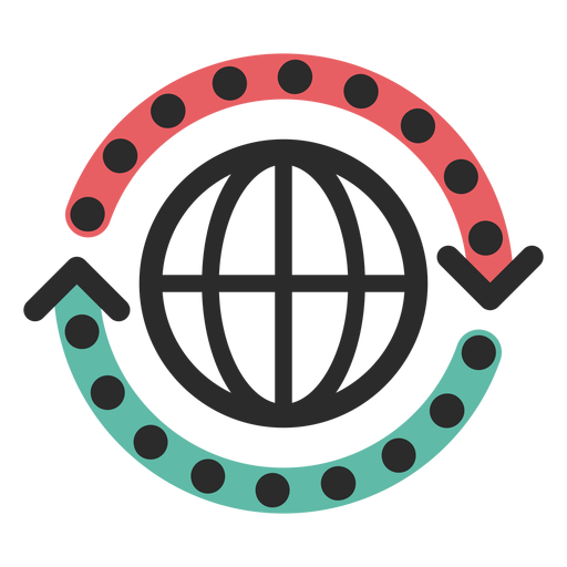 Ícone de traço colorido de ciclo da Web Transparent PNG