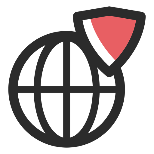 Web shield colored stroke icon Transparent PNG