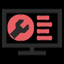 Icono de trazo de color de mantenimiento del sitio web