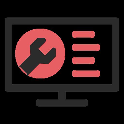 Ícone de traço colorido de manutenção do site Transparent PNG