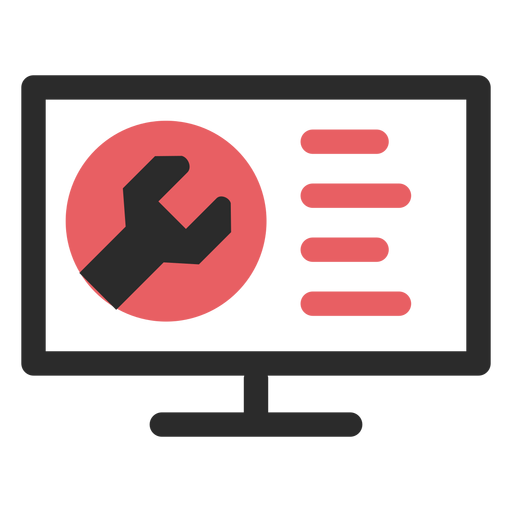 Website maintenance colored stroke icon Transparent PNG