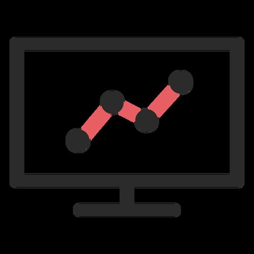 Gráfico de tráfico del sitio web coloreado trazo Transparent PNG